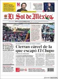 Portada de El Sol de México (Mexico)