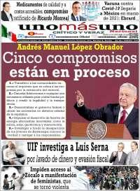 Portada de unomásuno (Mexico)