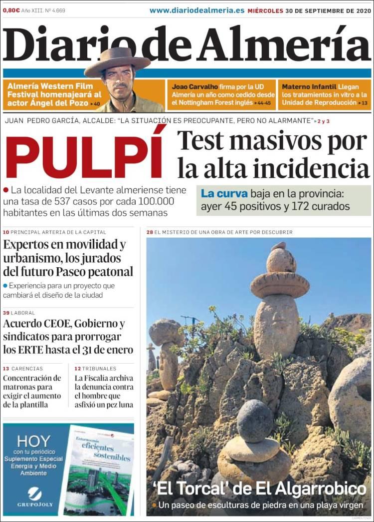Portada de Diario de Almería (Spain)