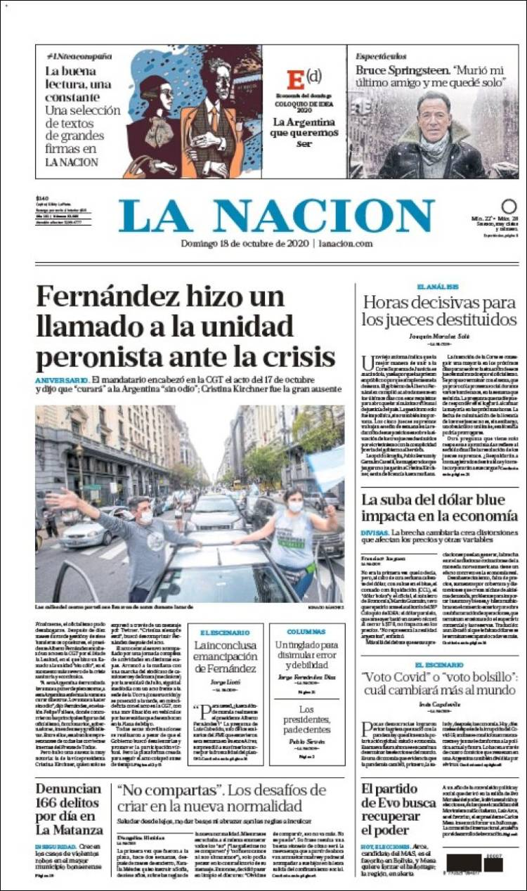Portada de La Nación (ar)