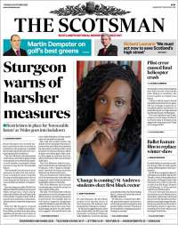 Portada de The Scotsman (Reino Unido)