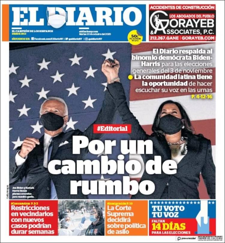 Portada de El Diario NY (USA)