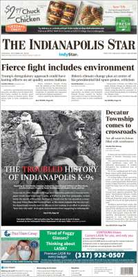Portada de The Indianapolis Star (USA)