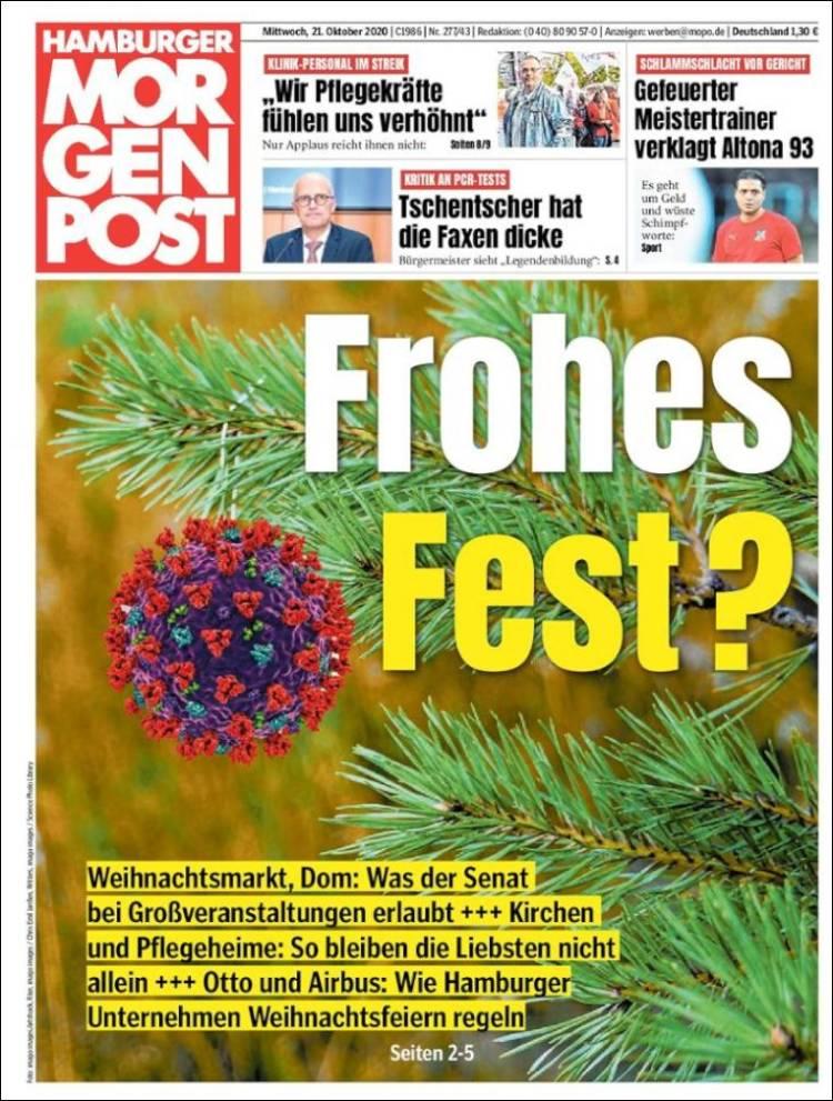 Portada de Hamburger Morgenpost  (Germany)