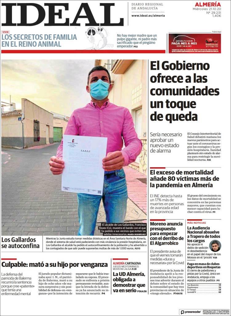 Portada de Ideal Almeria (Spain)