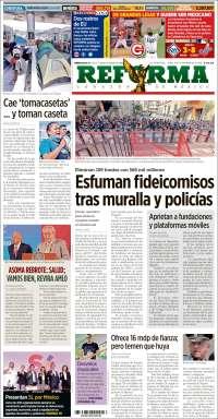 Portada de Reforma (Mexico)