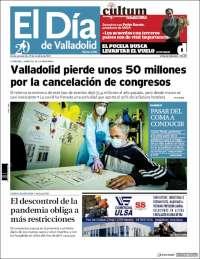 Portada de El Día de Valladolid (España)