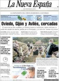 Portada de La Nueva España (España)