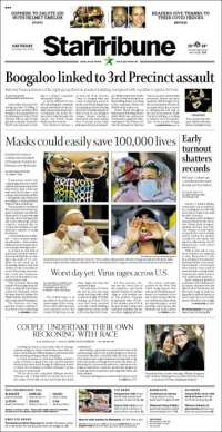 Portada de Star Tribune (USA)