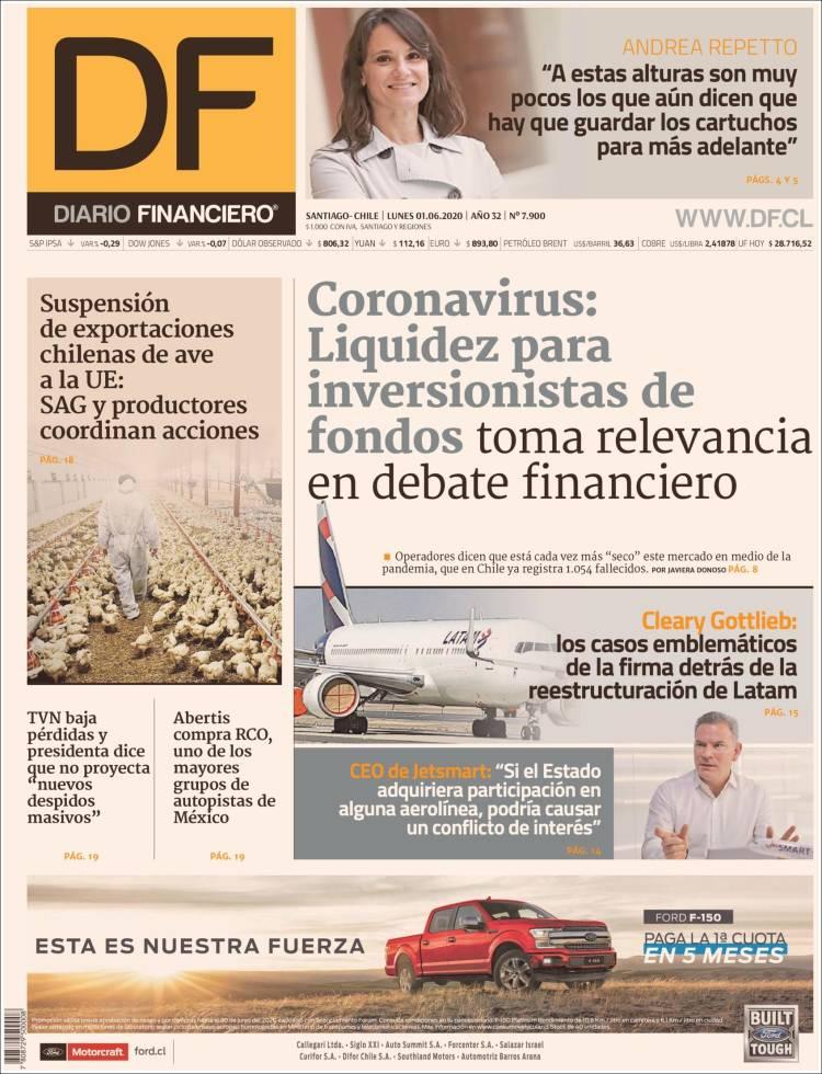 Portada de Diario Financiero (Chile)