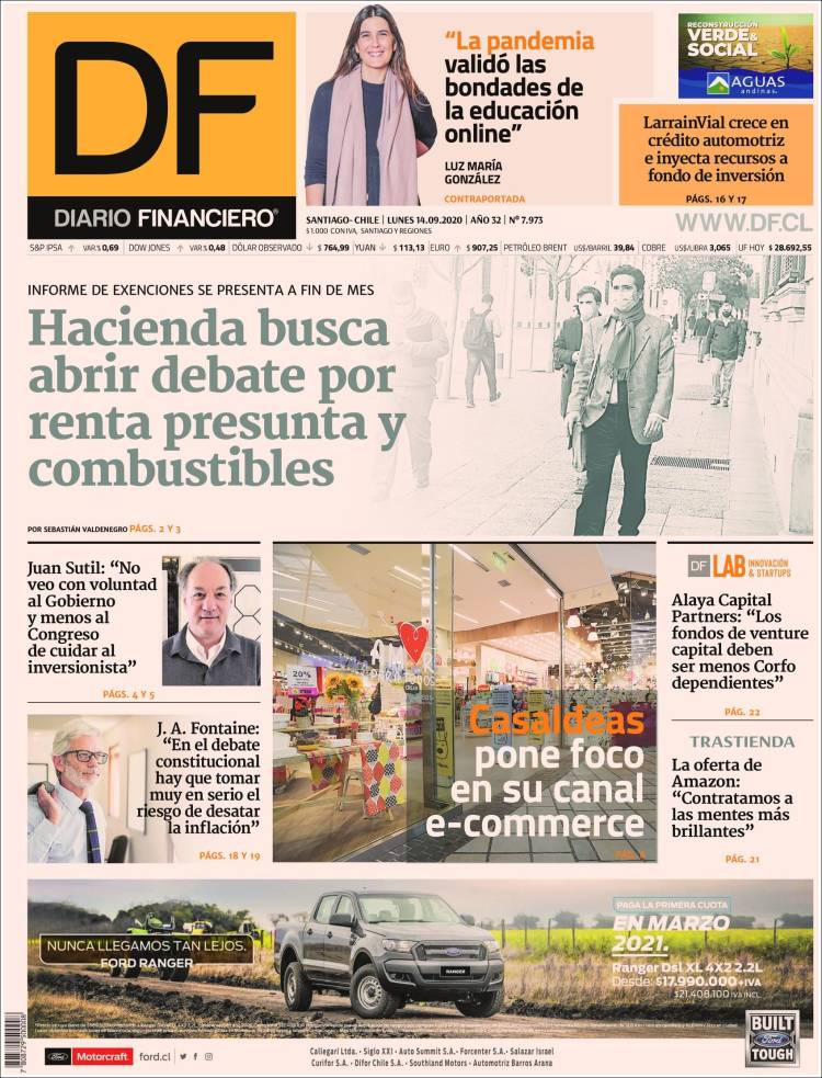 Portada de Diario Financiero (Chile)