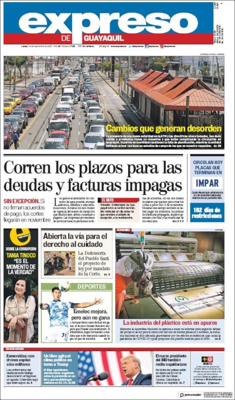 Portada de Expreso (Ecuador)