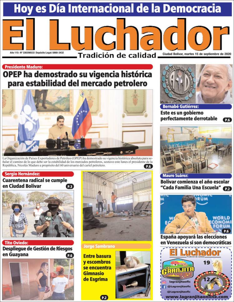 Portada de El Luchador (Venezuela)