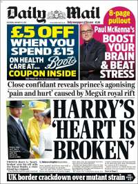 Portada de Daily Mail (United Kingdom)