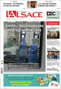 Portada de Journal L'Alsace (France)