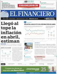 Portada de El Financiero (Mexique)